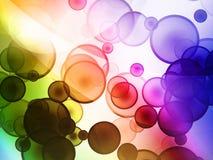 Kühler Luftblasenhintergrund Stockfotos