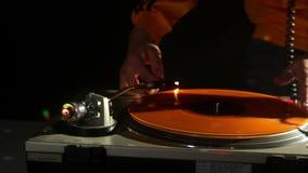 Kühler Mann DJ stock video footage