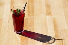 Kühler roter Tee mit Minze und Eis Stockbilder