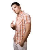 Kühler stattlicher Kerl getrennt auf Weiß stockbild