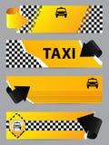 Kühler Taxifirmenfahnensatz von 4 Stockfoto