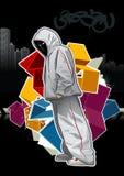 Kühles Bild mit jungem Gangster Lizenzfreies Stockbild