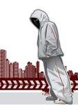 Kühles Bild mit jungem Gangster Lizenzfreie Stockfotografie