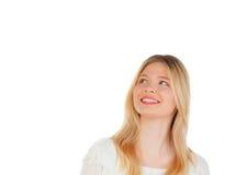 Kühles blondes Mädchendenken Lizenzfreie Stockbilder