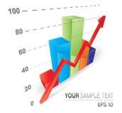 Kühles Diagramm 3D Lizenzfreie Stockfotografie