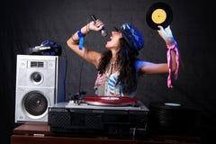 Kühles DJ in der Tätigkeit Lizenzfreies Stockfoto