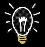 Kühles Glühlampe-Neonglühen lizenzfreie abbildung