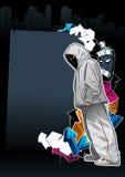 Kühles Graffitibild lizenzfreie abbildung