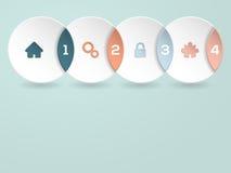 Kühles infographic mit Ikonen und Zahlen Stockbilder