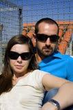 Kühles Paarportrait Stockfoto