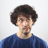Kühles Porträt des jungen Mannes Stockfotos