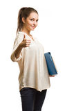 Kühles stilvolles junges Studentenmädchen. lizenzfreie stockfotografie