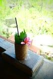Kühles tropisches Fruchtcocktailgetränk Lizenzfreie Stockfotografie