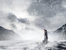 Kühles Wetter ist nicht der Grund Stockbild
