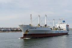 Kühlschiff-Humboldt-Bucht, die Hafen verlässt Lizenzfreie Stockbilder