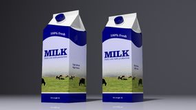 Kühlschrank mit verschiedenen Produkten Abbildung 3D Lizenzfreies Stockfoto