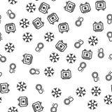 K?hlschrank-und Gefrierschrank-nahtloser Muster-Vektor stock abbildung