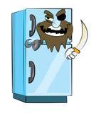 Kühlschrankkarikatur Lizenzfreies Stockbild