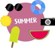 Kühlster Sommer überhaupt stock abbildung