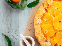 Kümmel und orange Törtchen Lizenzfreie Stockfotos