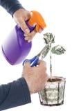 Kümmern von  um der Wirtschaftlichkeit Lizenzfreies Stockfoto