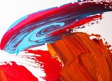 Künste, die auf Papierhintergrundzusammenfassungsacryl malen Lizenzfreie Stockbilder