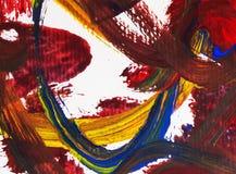 Künste, die auf Papierhintergrundzusammenfassungsfarbe malen Stockfotos