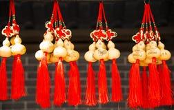 Künste u. Handwerk, chinesischer Knoten, kleiner Kürbis Lizenzfreie Stockbilder