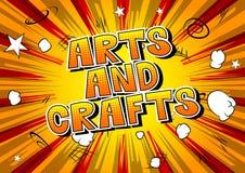 Künste und Handwerk - Comic-Buch-Artphrase lizenzfreie abbildung