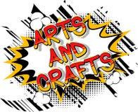 Künste und Handwerk - Comic-Buch-Artphrase vektor abbildung