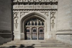 Künste und Handwerk und gotische Baustile in Chicago-archi Lizenzfreie Stockfotos