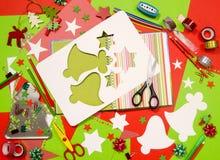 Künste und Handwerksversorgungen für Weihnachten Lizenzfreies Stockfoto