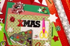 Künste und Handwerksversorgungen für Weihnachten Stockbild