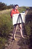 Künstler auf der einfachen Luft Lizenzfreie Stockfotografie