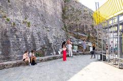 Künstler auf der Promenade von Budva in Montenegro Lizenzfreies Stockbild