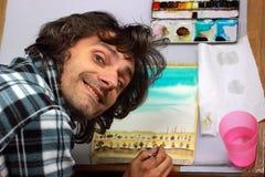 Künstler bei der Arbeit lizenzfreie abbildung