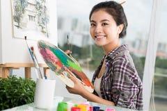 Künstler bei der Arbeit Lizenzfreie Stockfotos