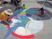 Künstler bei der Arbeit Stockbilder