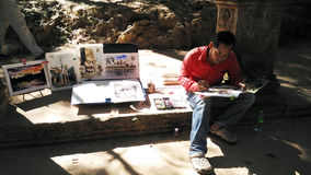 Künstler bei der Arbeit Lizenzfreies Stockbild