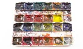 Künstler Child Used Paints Stockfotos