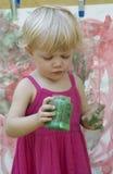 Künstler des kleinen Mädchens Stockfoto