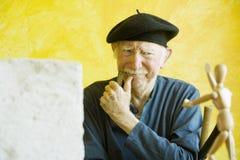 Künstler erwägt Baumuster Lizenzfreie Stockfotos