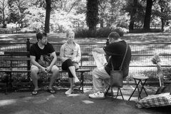 Künstler im Central Park stockbilder