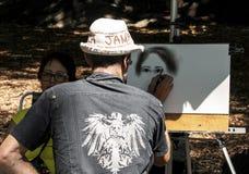 Künstler im Central Park ein Bild stockbilder