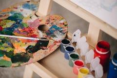 Künstler-Paletten-Nahaufnahme lizenzfreie stockfotografie