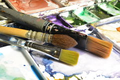 Künstler Pallete Lizenzfreies Stockbild