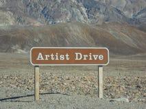 Künstler treiben in Death Valley an Lizenzfreies Stockfoto