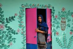 Künstler Village Of India Stockfotografie