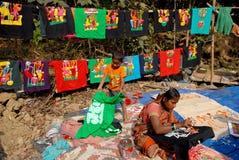Künstler Village Of India Stockbilder