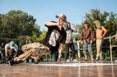 Künstlerbreakdance Stockbild